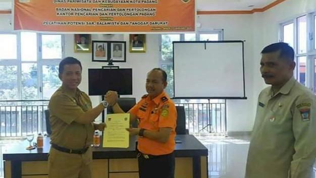 Tingkatkan Keamanan Wisatawan Disparbud Padang Gandeng Basarnas