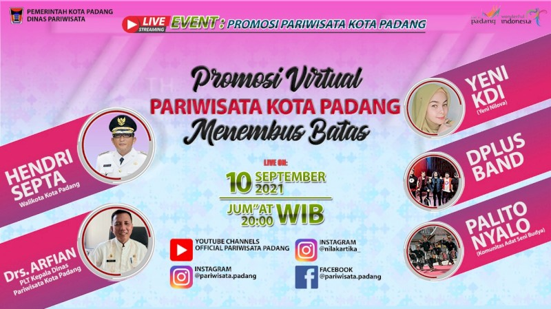 Promosi Virtual Pariwisata Kota Padang Menembus Batas